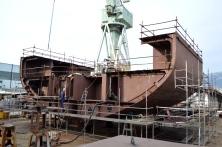 Gradnja najvećeg jedrenjaka na svijetu/Brodosplit/FOTO Škveranka
