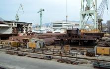 Brodosplit 483 Gradnja najvećeg jedrenjaka na svijetu/Brodosplit/FOTO Škveranka