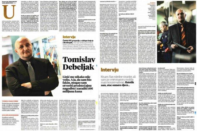 Intervju - Tomislav Debeljak, 7.2.2016. VL