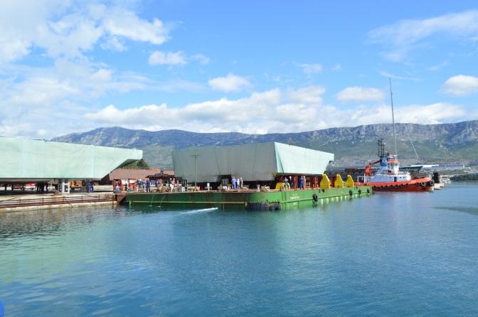 Projekt Mojsije/Isporuka prvih vrata za zaljev Malamocco/Brodosplit/FOTO Škveranka 13.5.2016.