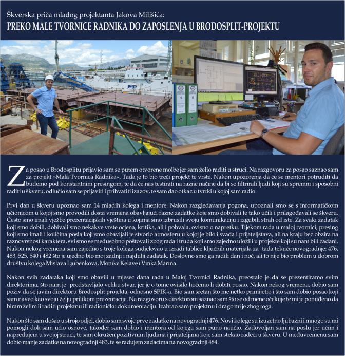 Jakov Milišić - BRODOSPLIT Mala Tvornica Radnika - FOTO Škveranka