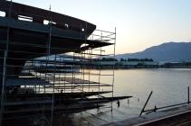 Obrada čelika za Novogradnju 525 na navozu br. 3 - Projekt izgradnje prvog od pet ugovorenih jedrenjaka za nautički turizam koji škverani grade za flotu Brodosplit plovidbe