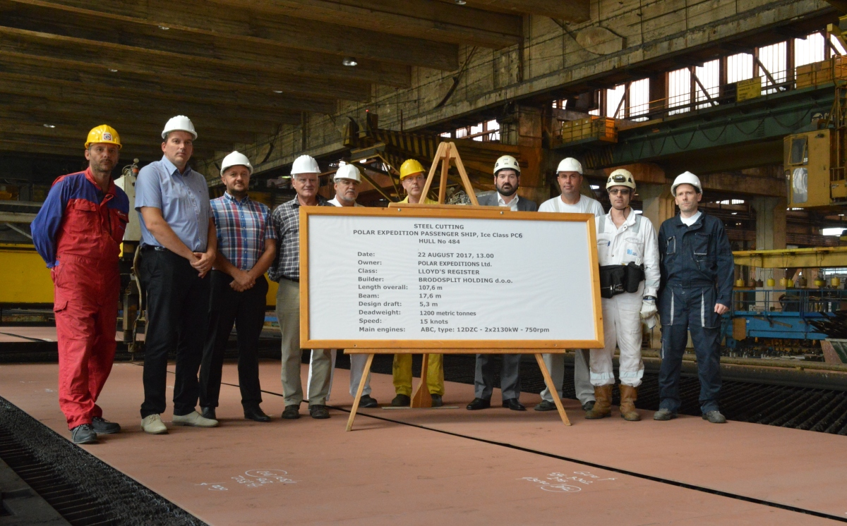 U Brodosplitu počela gradnja luksuznog broda za krstarenja polarnim područjima