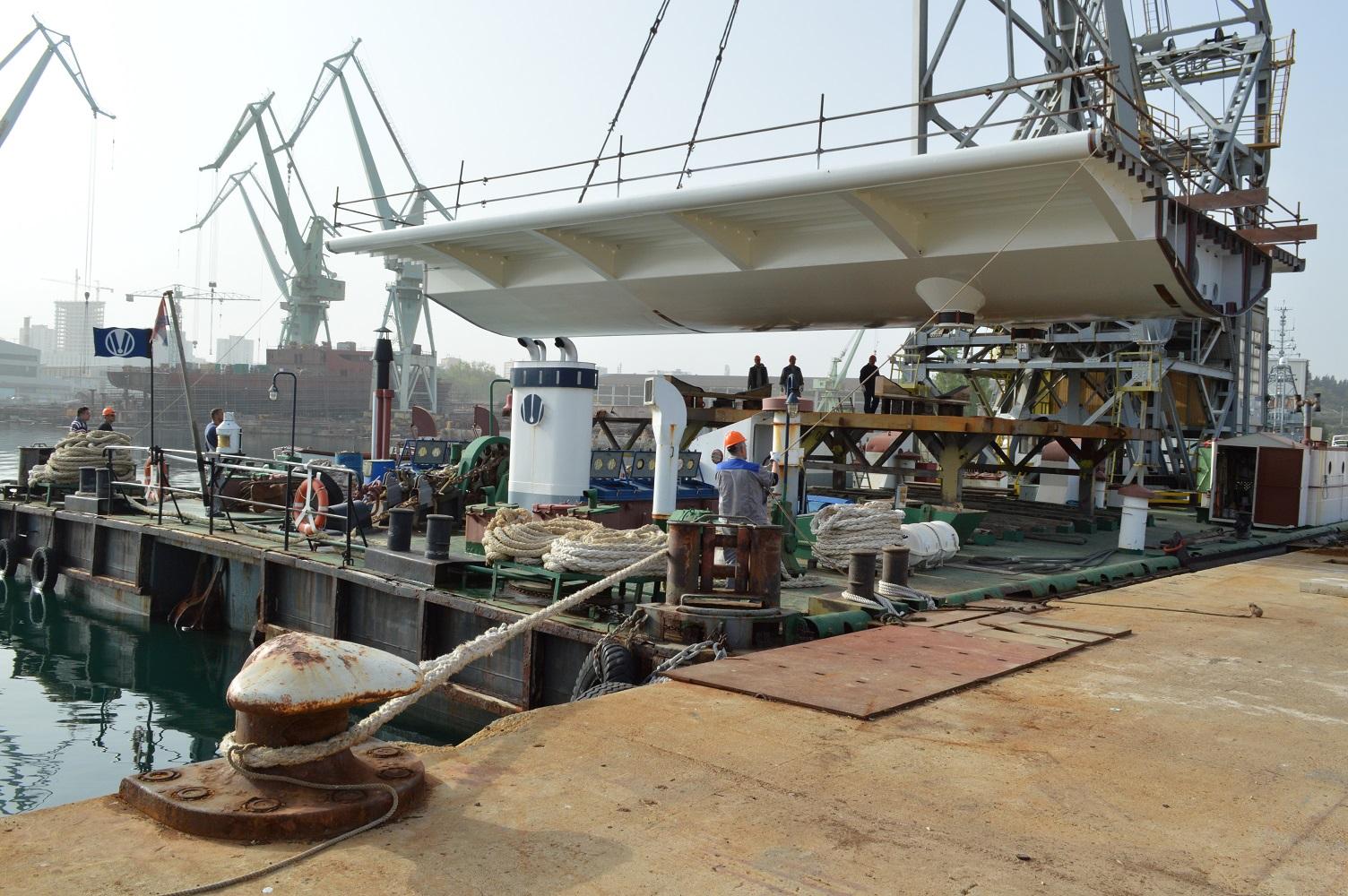 Isporuka segmenata čelične konstrukcije mosta Čiovo